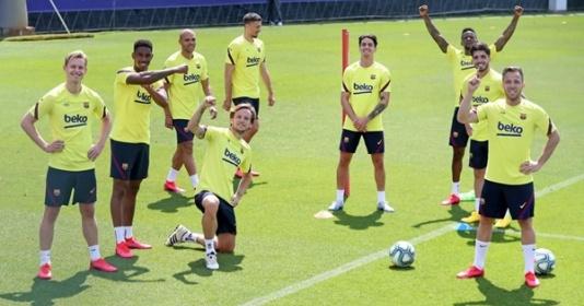 Tập luyện hăng say, Barca sẵn sàng cho sự trở lại của La Liga   Bóng Đá