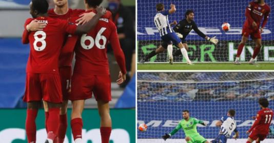 """Salah xác lập thành tích khủng, Liverpool """"nuốt trọn"""" Brighton"""