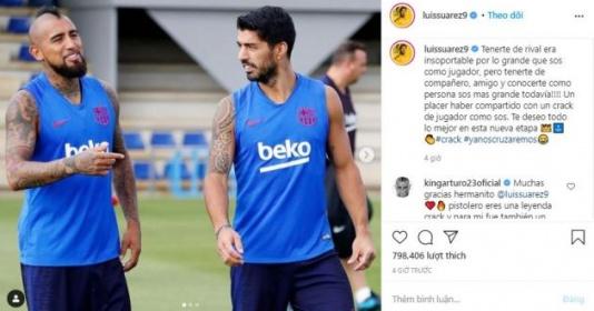 Nói lời chia tay Vidal, Suarez hé lộ luôn bến đỗ mới?   Bóng Đá