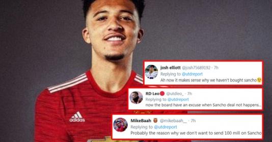 CĐV Man Utd: Đó là lý do chúng ta sẽ không thể mua Sancho sao? | Bóng Đá