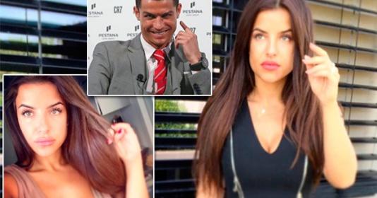 """Ái nữ ngực khủng """"săn sóc"""" đặc biệt cho Ronaldo trong buổi ghi hình"""