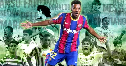 Ansu Fati và những cầu thủ thành danh trước khi bước qua tuổi 18 | Bóng Đá