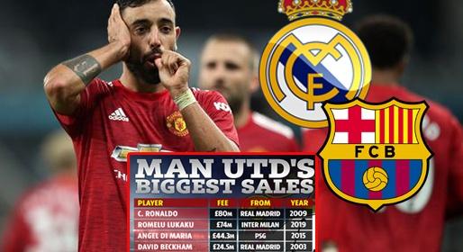 Được Real để mắt, Bruno sẽ lọt vào top phi vụ đắt nhất của Man Utd? | Bóng Đá