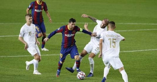 Messi đi bóng từ giữa sân câu quả phạt đền cho Barca trước Ferencvaros   Bóng Đá
