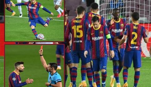 Pique nhận thẻ đỏ trực tiếp, Barcelona vẫn hủy diệt đại diện Hungary | Bóng Đá