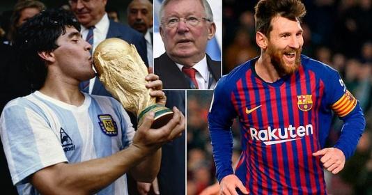 Maradona và Messi, ai xuất sắc hơn? Sir Alex có câu trả lời | Bóng Đá