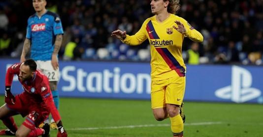 Thay Messi ''cứu'' CLB, Griezmann giúp Barca giành lợi thế trước Napoli | Bóng Đá