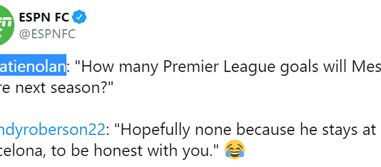 Được hỏi Messi ghi bao nhiêu bàn tại EPL, Robertson trả lời ra sao? | Bóng Đá