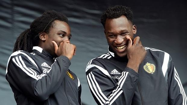 Romelu và Jordan trong màu áo tuyển Bỉ. Ảnh: Internet.