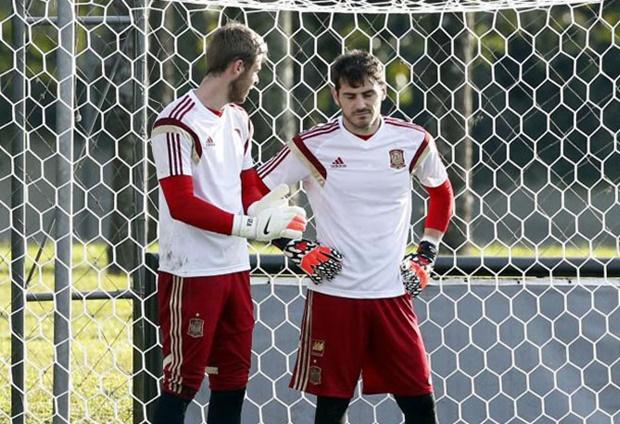 De Gea chưa thể thay Casillas. Ảnh: Internet.