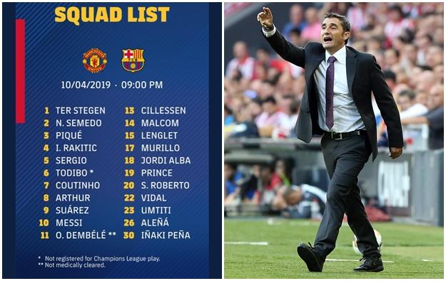 CHÍNH THỨC: Đội hình 22 cầu thủ Barca tiếp đón Man Utd - Bóng Đá