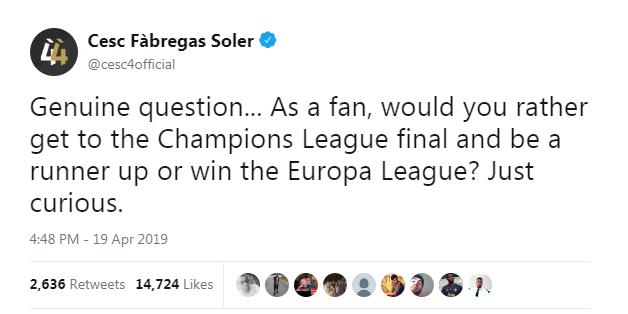 Web 388: Câu hỏi hóc búa: Vô địch Europa League hay á quân Champions League?