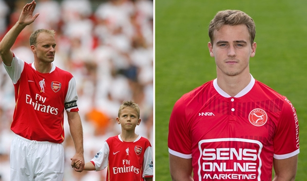 Truoctrandau đưa tin: Muốn tiếp bước cha, con trai huyền thoại Arsenal