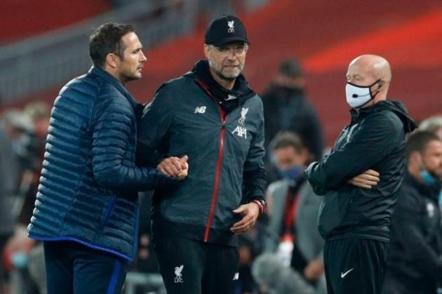 Frank Lampard keen to make up with Jurgen Klopp after bust-up during Liverpool vs Chelsea - Bóng Đá