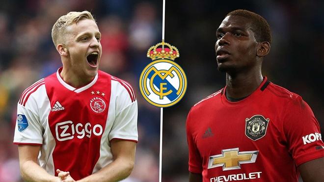 Người hâm mộ nói gì trước thống kê mùa giải của Pogba và Van de Beek?