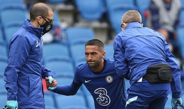 Lộ hình ảnh mới nhất, Hakim Ziyech khiến CĐV Chelsea lo lắng