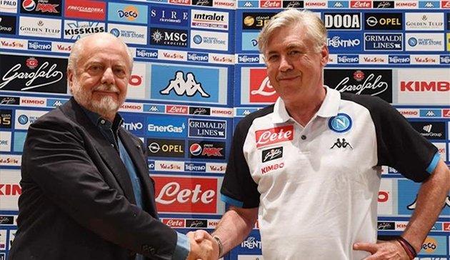 SỐC: Chủ tịch Napoli bày tỏ tình cảm như vợ chồng với Ancelotti