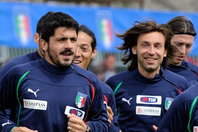 Vừa nhậm chức HLV trưởng Juve, Pirlo đã bị Gattuso cảnh báo