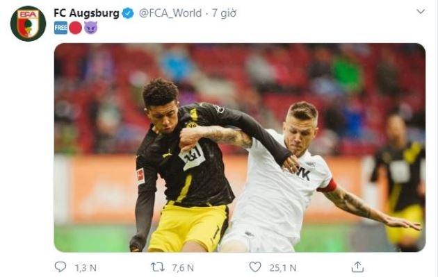 Thắng Dortmund, Augsburg 'cà khịa' thương vụ Sancho