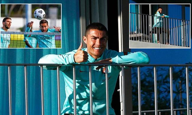 Lộ hình ảnh 'sửng sốt' của Ronaldo trong khu cách ly