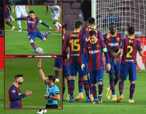 Pique nhận thẻ đỏ trực tiếp, Barcelona vẫn hủy diệt đại diện đến từ Hungary