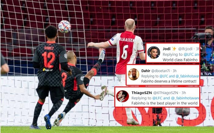 Fabinho cứu bóng trên vạch vôi, CĐV Liverpool thay nhau phát cuồng