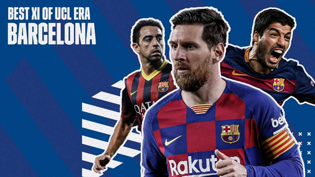 Siêu đội hình mạnh nhất của Barcelona ở Champions League