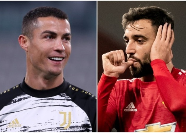 Fernandes ghi bàn đẳng cấp cho Man Utd, Ronaldo liền hành động bất ngờ