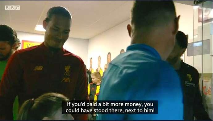 'Nếu em chi nhiều tiền hơn, em đã có thể đứng đó, cạnh Van Dijk'