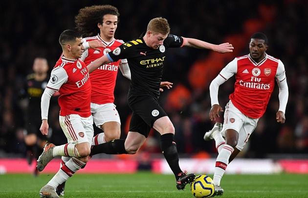 Một rừng cầu thủ Arsenal bủa vây cũng không thể ngăn cản De Bruyne - kết quả xổ số bình định