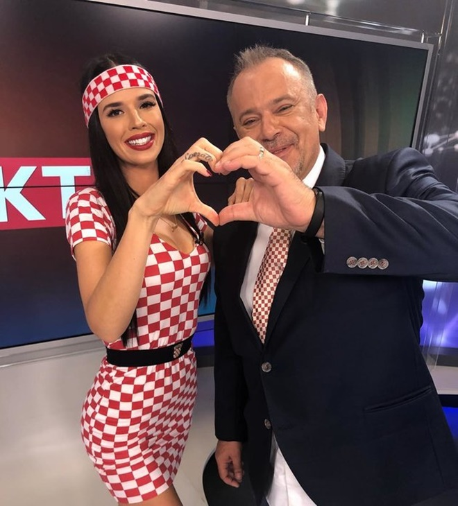 Croatia's sexiest cheerleader Ivana Knoll stuns fans in 'Crokini' swimwear showing off her nation's colours - Bóng Đá