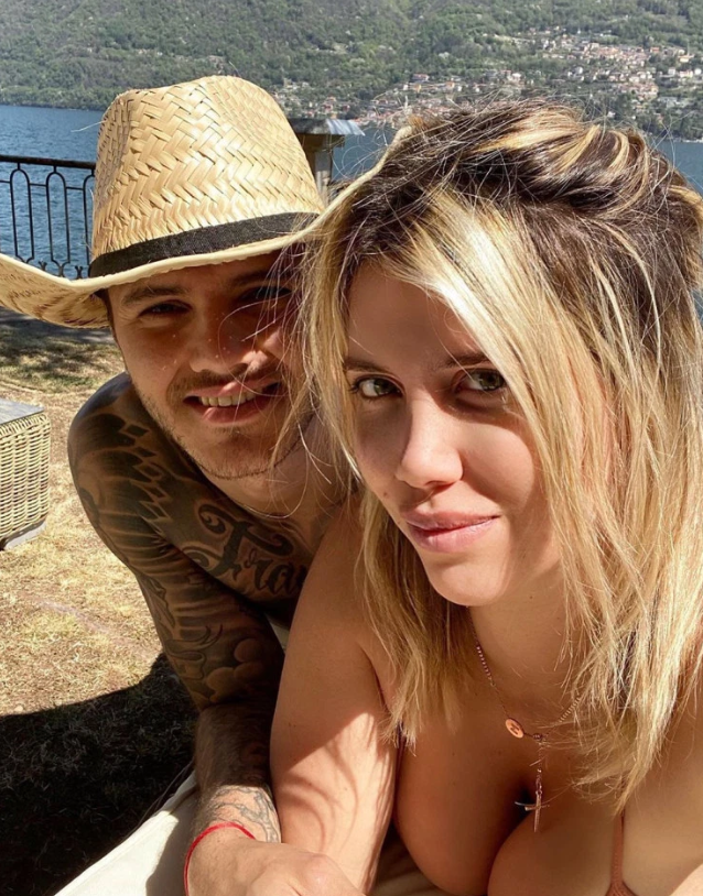 Wanda Nara soaks up sun in tiny bikini while in lockdown with Mauro Icardi as she relaxes near Lake Como - Bóng Đá