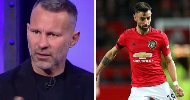 Ryan Giggs names Bruno Fernandes as the most 'exciting' player in Manchester United's squad - Bóng Đá