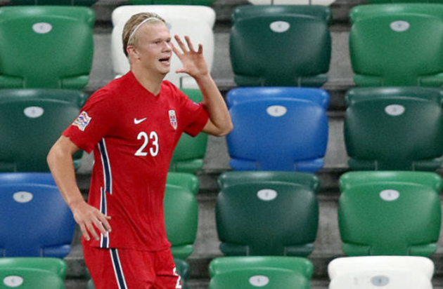 Erling Haaland score wondergoal and celebrate like childhood hero Michu in Norway's 5-1 win vs Northern Ireland - Bóng Đá