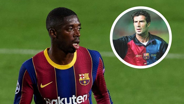 Figo sees shades of himself in Dembele & believes Barcelona winger has 'enormous potential' - Bóng Đá