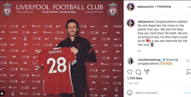 Liverpool signing Ben Davies' stunning Wag, Abbie Colvin is a mum of two - Bóng Đá