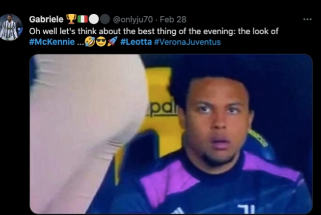 Juventus ace McKennie caught appearing to ogle stunning sports reporter Diletta Leotta in hilarious viral picture - Bóng Đá