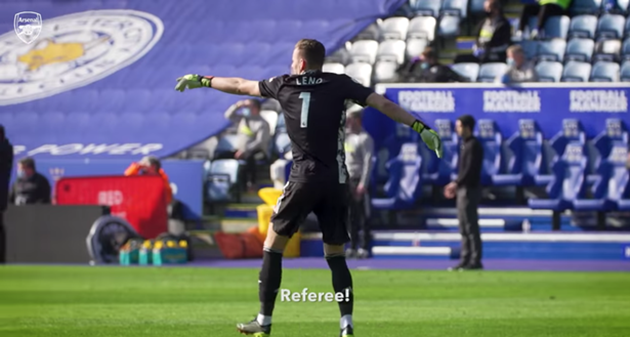 What Bernd Leno shouted before Alexandre Lacazette scored for Arsenal against Leicester City - Bóng Đá