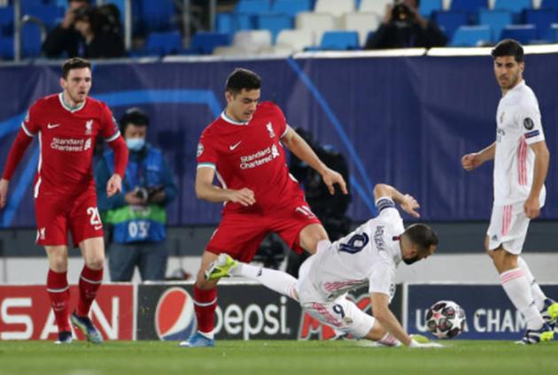 TRỰC TIẾP Real Madrid 0-0 Liverpool: Báo động cho khung thành Th Kop (H1) - Bóng Đá