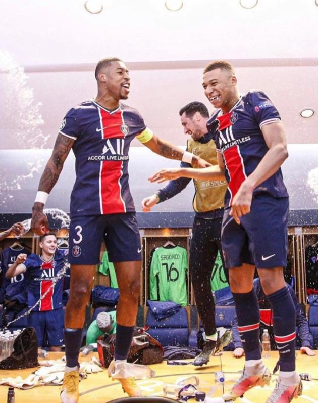 Inside PSG's dressing-room celebrations after Bayern win as Mbappe dances - Bóng Đá