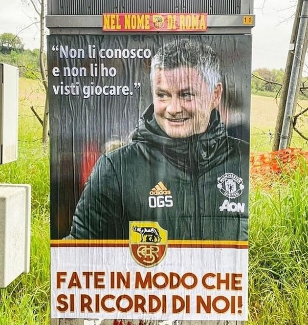 Roma fans line streets to send off team for Man Utd after pinning up 'disrespectful' quote from Solskjaer at training - Bóng Đá