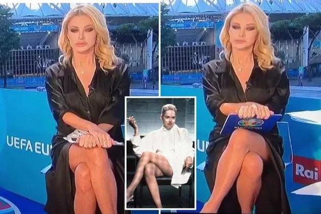 MC truyền hình Ý phủ nhận không mặc đồ lót trên sóng trực tiếp - Bóng Đá