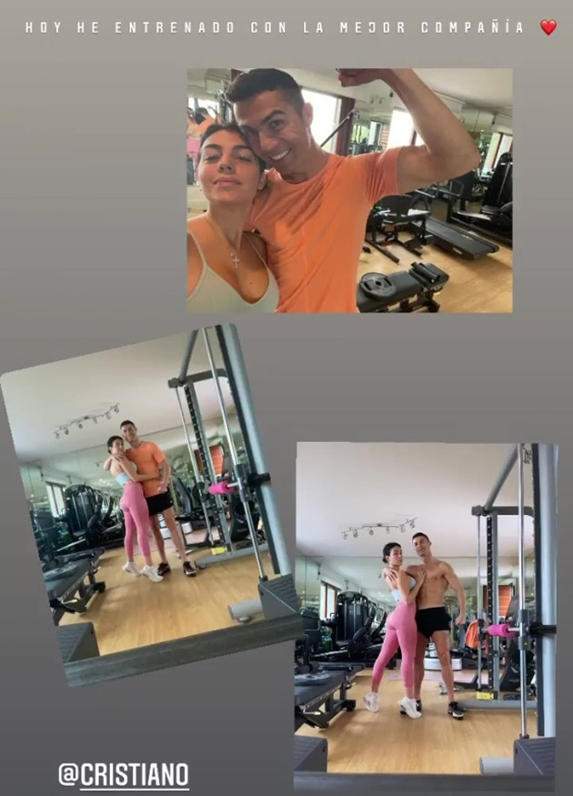 Cristiano Ronaldo's girlfriend Georgina Rodriguez shows off bikini body in sexy bed - Bóng Đá