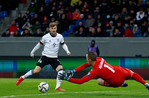 Watch Timo Werner's shocking miss for Germany - Bóng Đá