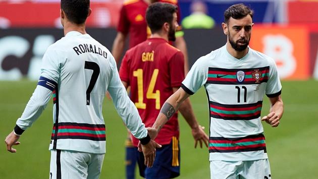 Bruno Fernandes and Cristiano Ronaldo - Bóng Đá