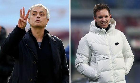 Julian Nagelsmann will be Tottenham's top target if Jose Mourinho fails to arrest decline - Bóng Đá