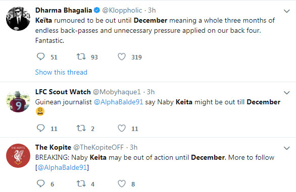 Nóng: Liverpool có thể mất Keita đến hết năm - Bóng Đá