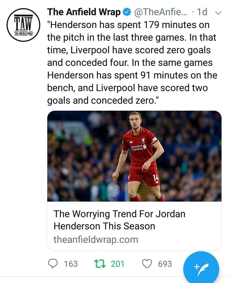 Thống kê: Henderson đang ám Liverpool - Bóng Đá