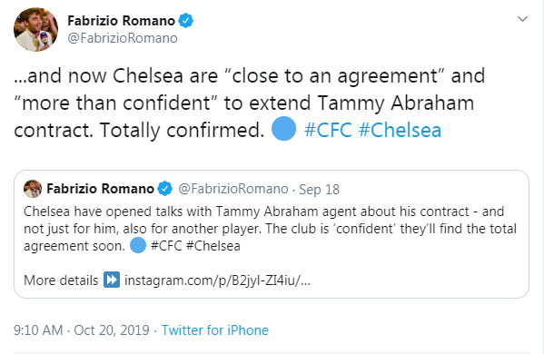 Xong! Chelsea trói chân thành công Tammy Abraham  - Bóng Đá