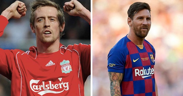 Peter Crouch: 'I will tell my grandchildren that I shared a pitch with Messi' - Bóng Đá